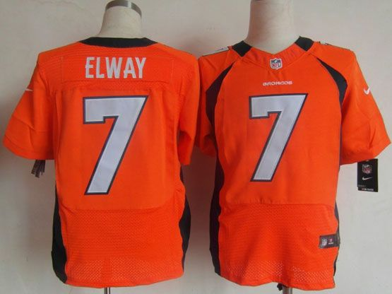 Mens Nfl Denver Broncos #7 Elway Orange Elite Jersey