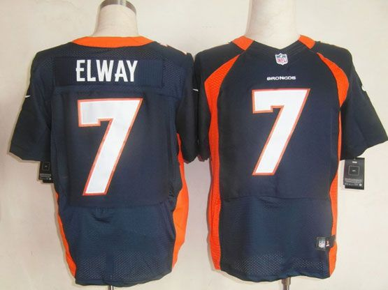 Mens Nfl Denver Broncos #7 Elway Blue Elite Jersey