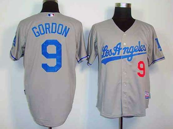 Mens Mlb Los Angeles Dodgers #9 Gordon Gray Jersey