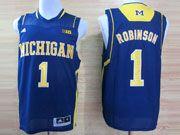 Mens Ncaa Nba Michigan Wolverines #1 Robinson Blue (big 10th) Jersey