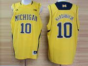 Mens Ncaa Nba Michigan Wolverines #10 Hardaway Jr Yellow (big 10th) Jersey