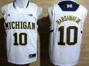 Mens Ncaa Nba Michigan Wolverines #10 Hardaway Jr White (big 10th) Jersey