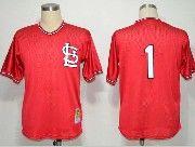 Mens mlb st.louis cardinals #1 (no name) red throwbacks Jersey