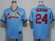 Mens mlb st.louis cardinals #24 herzog blue cooperstown throwbacks Jersey