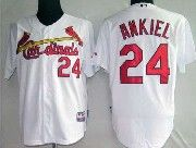 Mens mlb st.louis cardinals #24 ankiel white&red number Jersey