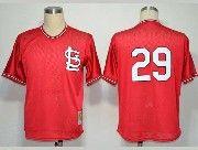 Mens mlb st.louis cardinals #29 (no name) red throwbacks Jersey