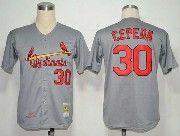 Mens Mlb St.louis Cardinals #30 Cepeda Gray Throwbacks Jersey