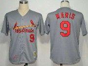 Mens Mlb St.louis Cardinals #9 Maris Gray Throwbacks Jersey