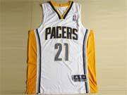 Mens Nba Indiana Pacers #21 West White Revolution 30 Mesh Jersey