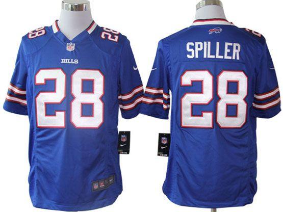 Mens Nfl Buffalo Bills #28 Spiller Light Blue Game Jersey