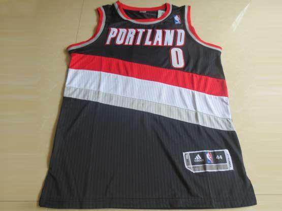 Mens Nba Portland Trail Blazers #0 Lillard Black Revolution 30 Mesh Jersey