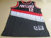 Mens Nba Portland Trail Blazers #12 Aldridge Black Revolution 30 Mesh Jersey