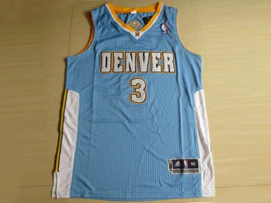 Mens Nba Denver Nuggets #3 Lawson Light Blue Revolution 30 Mesh Jersey