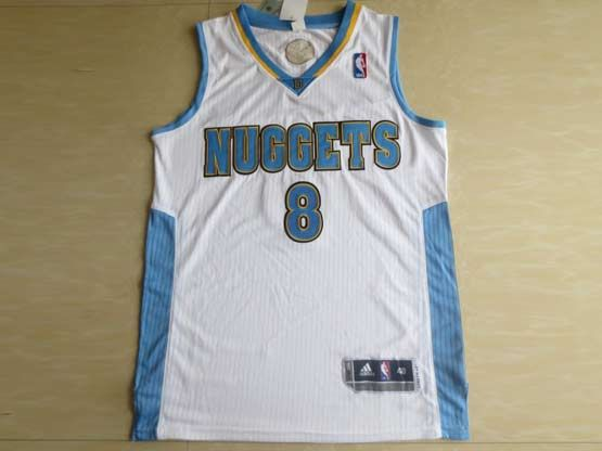 Mens Nba Denver Nuggets #8 Gallinari White Revolution 30 Mesh Jersey