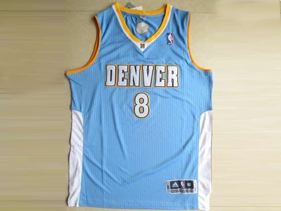 Mens Nba Denver Nuggets #8 Gallinari Light Blue Revolution 30 Mesh Jersey