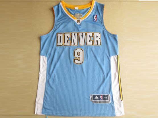Mens Nba Denver Nuggets #9 Iguodala Light Blue Revolution 30 Mesh Jersey