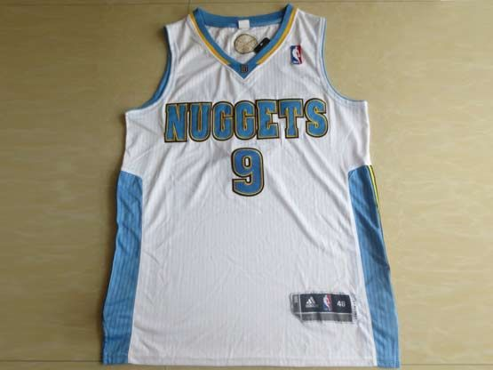 Mens Nba Denver Nuggets #9 Iguodala White Revolution 30 Mesh Jersey
