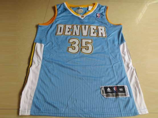 Mens Nba Denver Nuggets #35 Faried Light Blue Revolution 30 Mesh Jersey