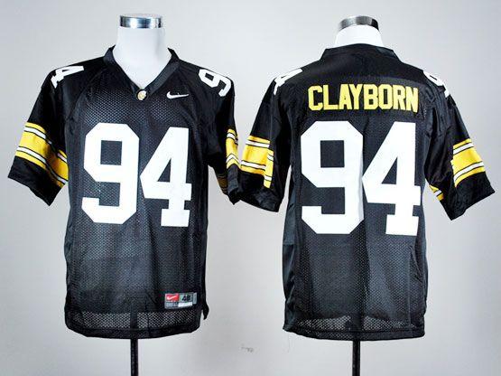 Mens Ncaa Nfl Iowa Hawkeyes #94 Clayborn Black Jersey