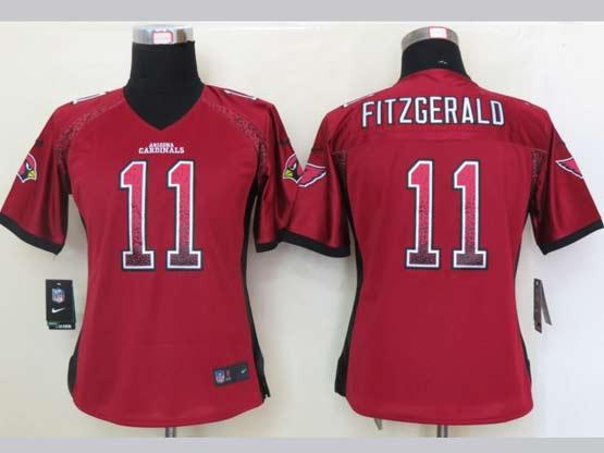 Women  Nfl Arizona Cardinals #11 Larry Fitzgerald Red Drift Fashion Elite Jersey