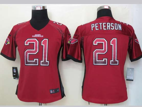 Women  Nfl Arizona Cardinals #21 Patrick Peterson Red Drift Fashion Elite Jersey