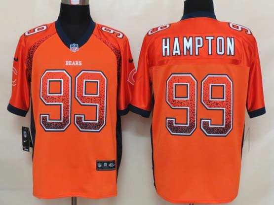 Mens Nfl Chicago Bears #99 Hampton Drift Fashion Orange Elite Jersey