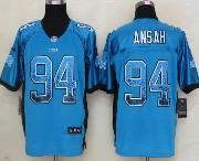 Mens Nfl Tennessee Titans #94 Ansah Drift Fashion Blue Elite Jersey