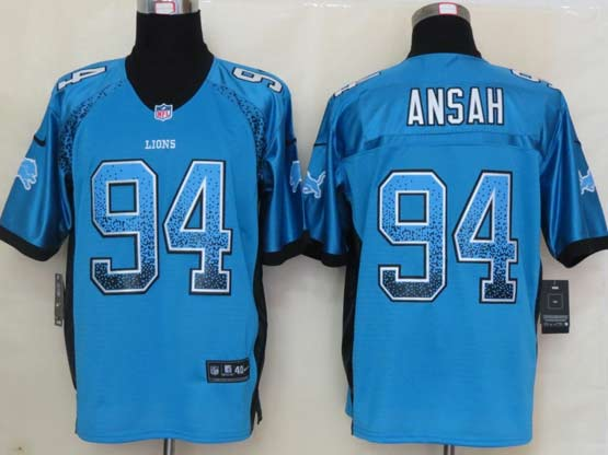 Mens Nfl Tennessee Titans #94 Ansah Drift Fashion Blue Elite Jersey