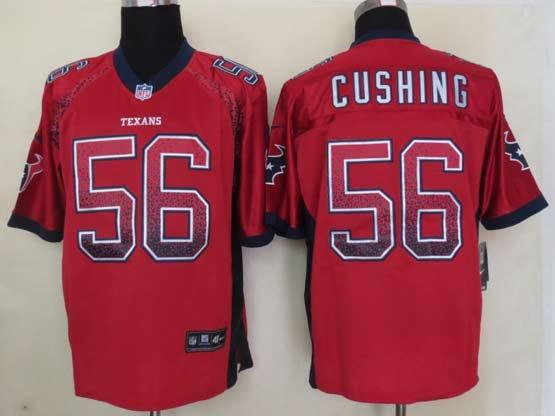 Mens Nfl Houston Texans #56 Cushing Drift Fashion Red Elite Jersey