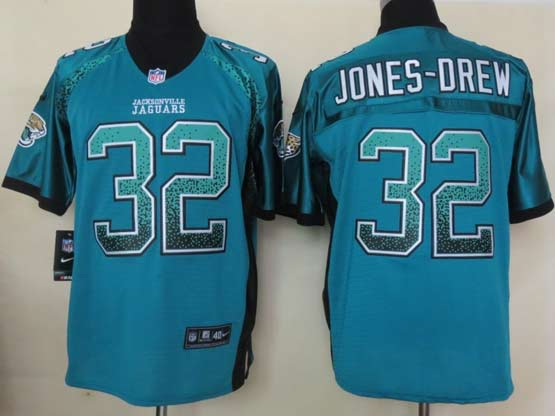 Mens Nfl Jacksonville Jaguars #32 Jones-drew Drift Fashion Green Elite Jersey