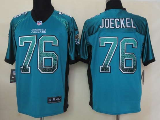 Mens Nfl Jacksonville Jaguars #76 Joeckel Drift Fashion Green Elite Jersey
