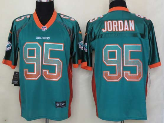 Mens Nfl Miami Dolphins #95 Jordan Drift Fashion Green Elite Jersey