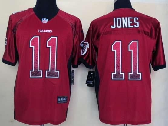 Mens Nfl Atlanta Falcons #11 Jones Drift Fashion Red Elite Jersey