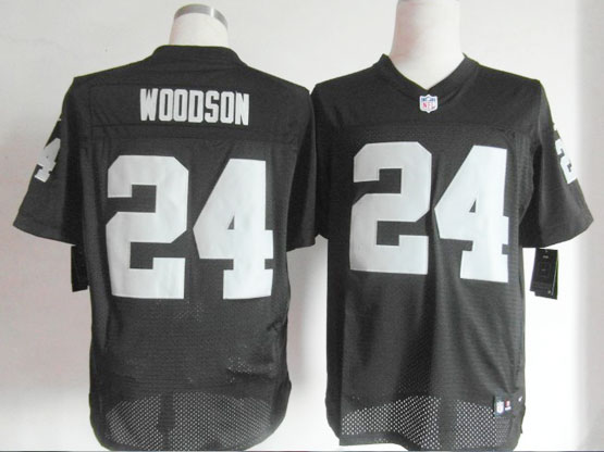 mens nfl Oakland Raiders #24 Charles Woodson black elite jersey