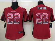 Women  Nfl Tampa Bay Buccaneers #22 Martin Red Drift Fashion Elite Jersey