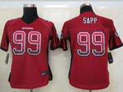 Women  Nfl Tampa Bay Buccaneers #99 Sapp Red Drift Fashion Elite Jersey