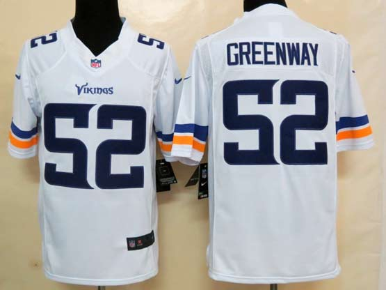 Mens Nfl Minnesota Vikings #52 Greenway (2013 New) White Limited Jersey