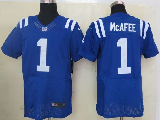 Mens Nfl Indianapolis Colts #1 Mcafee Blue Elite Jersey
