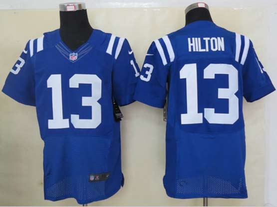 Mens Nfl Indianapolis Colts #13 Hilton Blue Elite Jersey