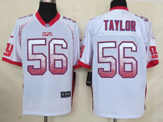 Mens Nfl New York Giants #56 Taylor Drift Fashion White Elite Jersey