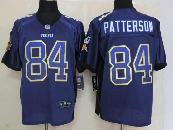 Mens Nfl Minnesota Vikings #84 Patterson Drift Fashion Purple Elite Jersey