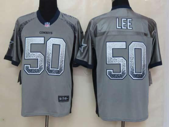 Mens Nfl Dallas Cowboys #50 Lee Drift Fashion Gray Elite Jersey