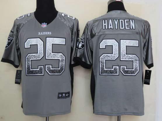 Mens Nfl Oakland Raiders #25 Hayden Drift Fashion Gray Elite Jersey