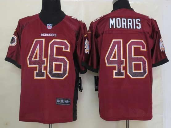 Mens Nfl Washington Redskins #46 Morris Drift Fashion Red Elite Jersey