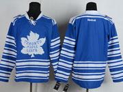 Mens reebok nhl toronto maple leafs (blank) blue (2014 winter classic) Jersey