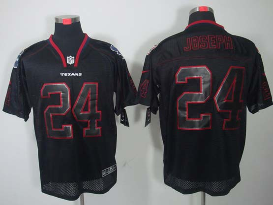 Mens Nfl Houston Texans #24 Joseph Black (light Out) Elite Jersey