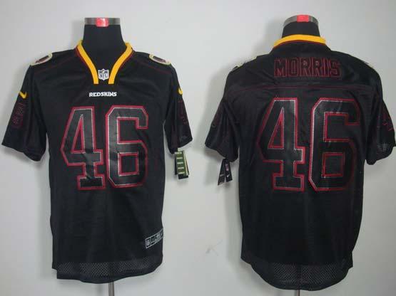 Mens Nfl Washington Redskins #46 Morris Black (lights Out) Elite Jersey
