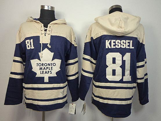 Mens nhl toronto maple leafs #81 kessel blue hoodie Jersey
