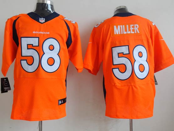 mens nfl Denver Broncos #58 Von Miller orange (2013 new) elite jersey