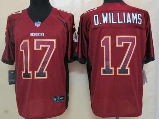 Mens Nfl Washington Redskins #17 D.williams Drift Fashion Red Elite Jersey